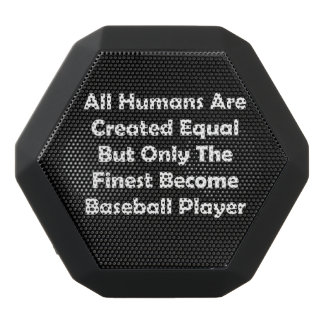 Only The Finest Become Baseball Player Black Bluetooth Speaker