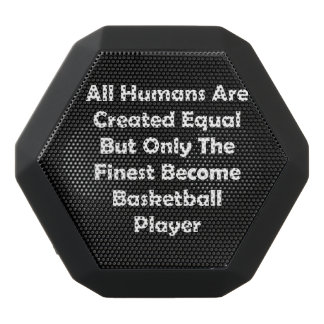 Only The Finest Become Basketball Player Black Bluetooth Speaker
