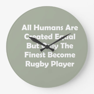 Only The Finest Become Rugby Player Large Clock