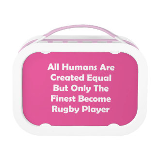 Only The Finest Become Rugby Player Lunch Box