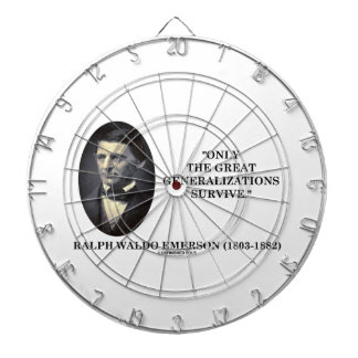 Only The Great Generalizations Survive Emerson Dartboards