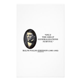 Only The Great Generalizations Survive Emerson Stationery