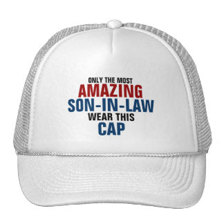 Only the most amazing son-in-law wear this cap trucker hat
