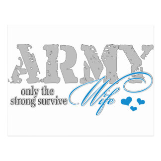 Only the strong survive Army Postcard