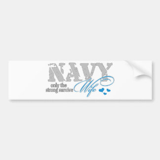 Only the strong survive Navy Bumper Sticker