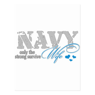 Only the strong survive Navy Postcard