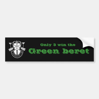 Only three win the Green beret Bumper Sticker