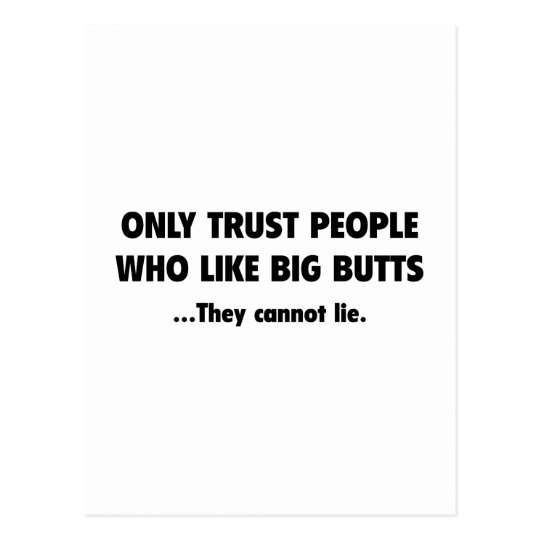 Only Trust People Postcard