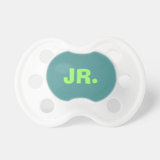 Only turquoise cool dark cyan baby pacifiers