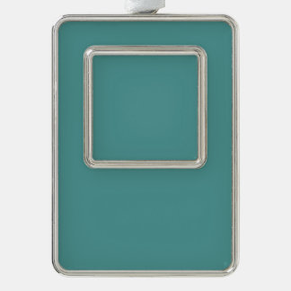 Only Turquoise seafoam solid color Silver Plated Framed Ornament