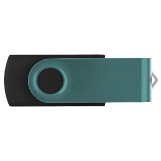 Only Turquoise seafoam solid color Swivel USB 2.0 Flash Drive