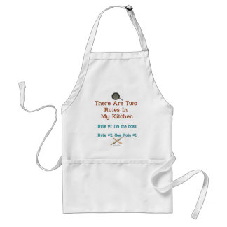 Only Two Rules Adult Apron