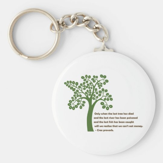 Only When The Last Tree Keychain