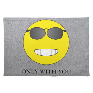Only with you cloth placemat