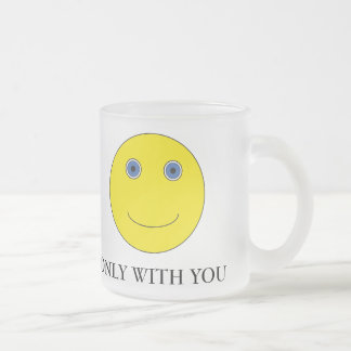 Only with you frosted glass coffee mug