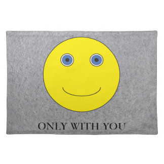 Only with you placemat