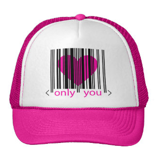 Only You heart Pink lady's trucker cap hat