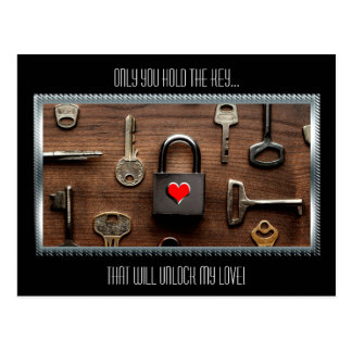 Only You Hold The Key...That Will Unlock My Love Post Card