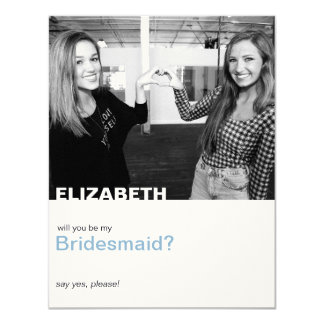 "Only You | Photo ""Will you be my bridesmaid"" card"