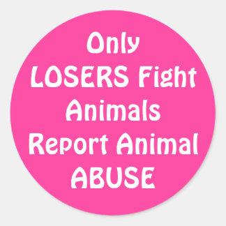 OnlyLOSERS Fight Round Pink Round Sticker