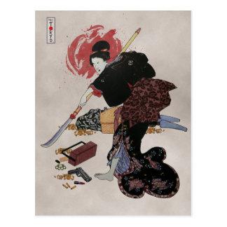 Onna-Bugeisha Ishi-jo Tarjeta Postal