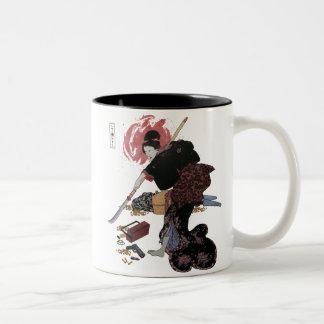 Onna-Bugeisha Ishi-jo Two-Tone Coffee Mug