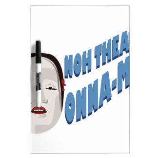 Onna-Hombres del teatro de Noh Pizarras Blancas