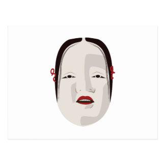 Onna-Men Mask Postcard