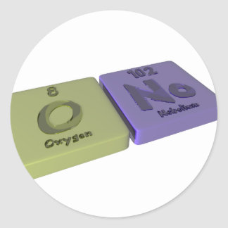 Ono as O Oxygen and No Nobelium Classic Round Sticker
