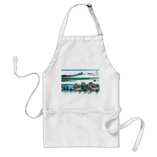 Ono Shindon in the Suraga province Hokusai Adult Apron