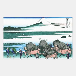 Ono Shindon in the Suraga province Hokusai Rectangular Sticker