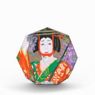 Onoe Baikou que juega Fuji Musume Hasegawa Noboru