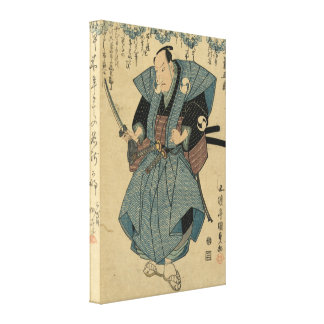 Onoe Kikugoro III - actor circa el vintage 1824-18 Impresion De Lienzo
