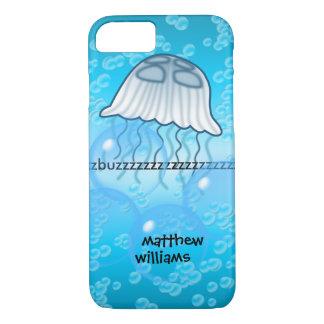 Onomatopoeia buzz thinking jellyfish iPhone 7 case