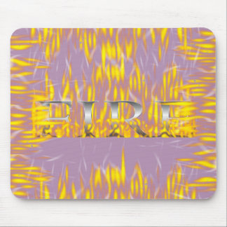 Onomatopoeia pop, crackle, sizzle thinking fire mouse pad