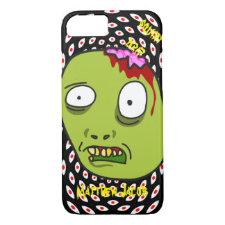 Onomatopoeia squirt and drip think n monster blood iPhone 8/7 case