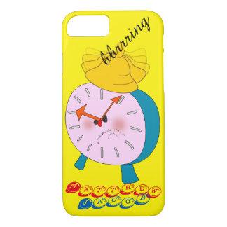 Onomatopoeia word bbrrring thinking alarm clock iPhone 8/7 case