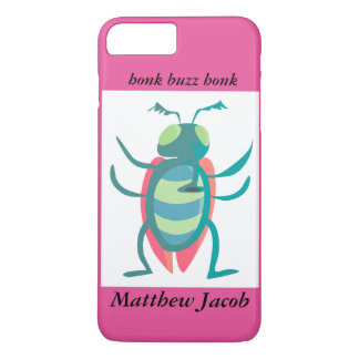 Onomatopoeia word buzz, honk thinking bug iPhone 7 plus case