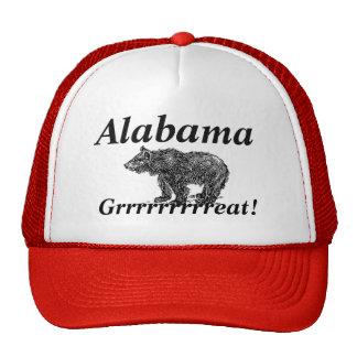 Onomatopoeia word grrrrr thinking bear trucker hat