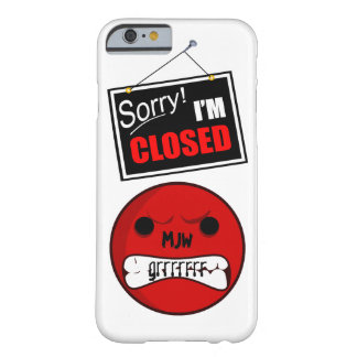 Onomatopoeia word grrrrrr thinking anger barely there iPhone 6 case