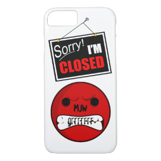 Onomatopoeia word grrrrrr thinking anger iPhone 8/7 case