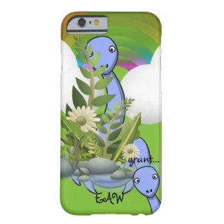 Onomatopoeia word grunt thinking dinosaur barely there iPhone 6 case