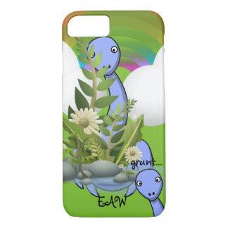 Onomatopoeia word grunt thinking dinosaur iPhone 7 case