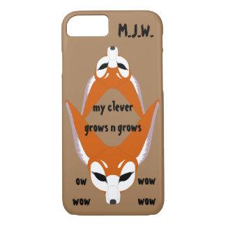 Onomatopoeia word ow wow   thinking fox iPhone 7 case