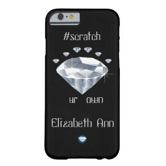 Onomatopoeia word scratch thinking diamonds barely there iPhone 6 case