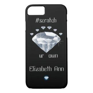 Onomatopoeia word scratch thinking diamonds iPhone 8/7 case