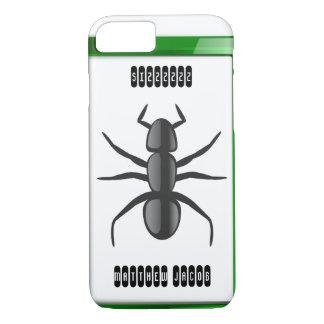 Onomatopoeia word sizzzzzz thinking ant sounds iPhone 8/7 case