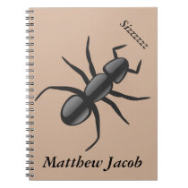 Onomatopoeia word sizzzzzz thinking ant sounds notebook