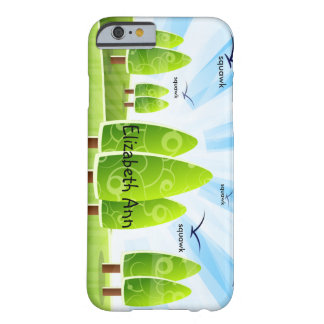 Onomatopoeia word squawk thinking seagulls barely there iPhone 6 case
