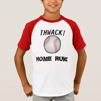 Onomatopoeia word thwack, baseball thinking T-Shirt